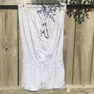 Grey cotton strapless romper